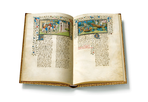 Pariser Alexanderroman, Faksimile, Edition, offener Band