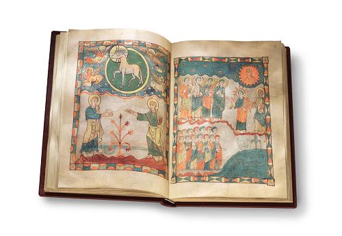 Apokalypse von Cambrai, Faksimile, Edition, offener Band