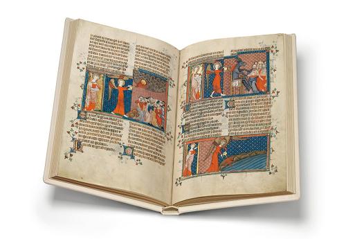 Corpus-Christi-Apokalypse, Faksimile, Edition, offener Band