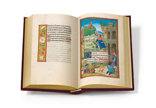 Flämisches Stundenbuch der Maria von Medici, Faksimile, Edition, offener Band