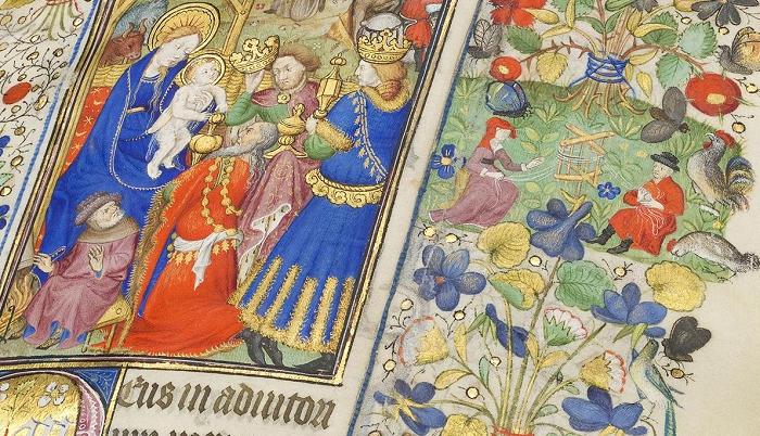 Stundenbuch der Margarete von Orléans, Blatt- und Pinselgold auf fol. 89r