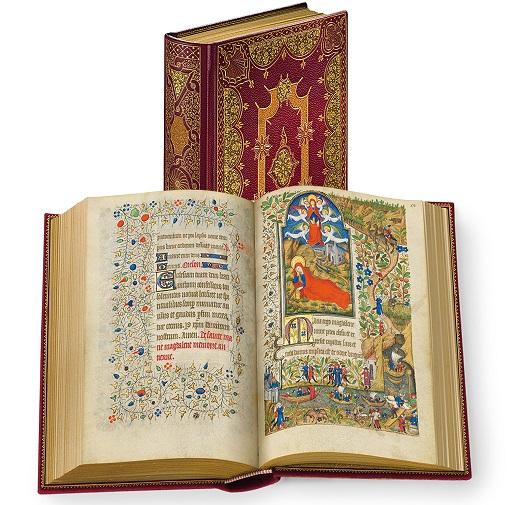 Stundenbuch der Margarete von Orléans, Faksimile-Edition, Band stehend und aufgeschlagen