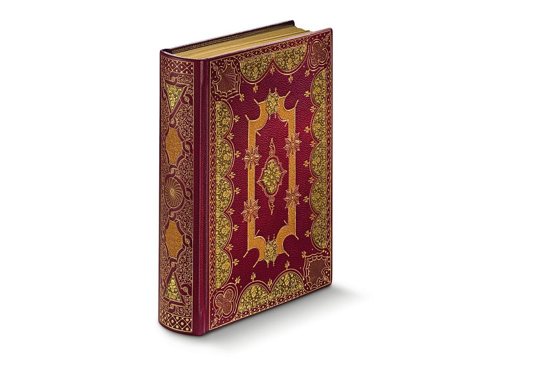 Stundenbuch der Margarete von Orléans, Ledermosaik-Einband mit Goldprägung