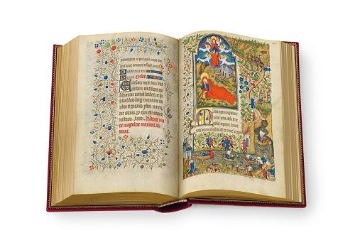 Stundenbuch der Margarete von Orléans, Faksimile, Edition, offener Band