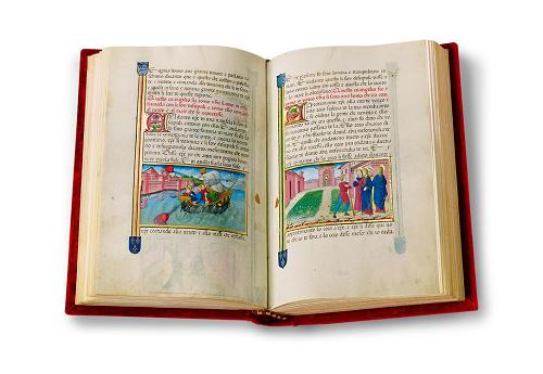 Legendarium der Sforza, Faksimile, Edition, offener Band