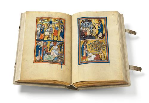 Goldener Münchner Psalter, Faksimile, Edition, offener Band