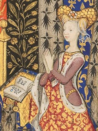 Stundenbuch der Margarete von Orléans, Darstellung der Auftraggeberin auf fol. 25r