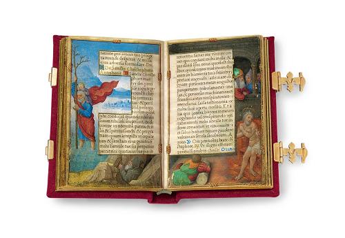 Gebetbuch der Claude de France, Faksimile, Edition, offener Band