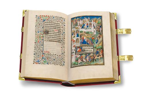 Sobieski-Stundenbuch, Faksimile, Edition, offener Band
