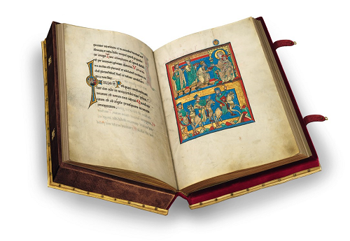 Speyerer Evangelistar, Faksimile, Edition, offener Band
