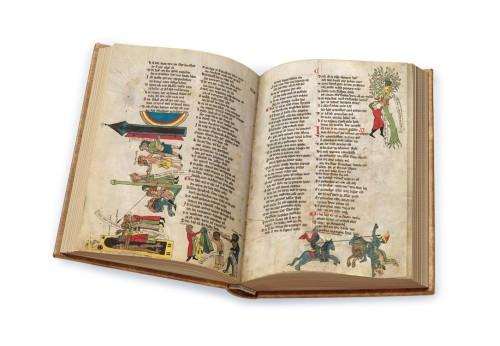 Welscher Gast, Faksimile, Edition, offener Band