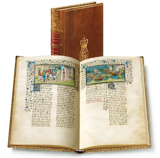 Pariser Alexanderroman, Faksimile-Edition, Band stehend und aufgeschlagen