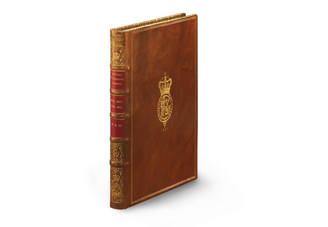 Pariser Alexanderroman, Ledereinband mit Goldprägung