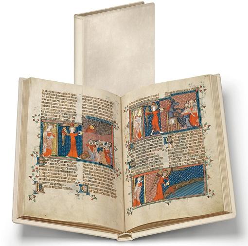 Corpus-Christi-Apokalypse, Faksimile-Edition, Band stehend und aufgeschlagen