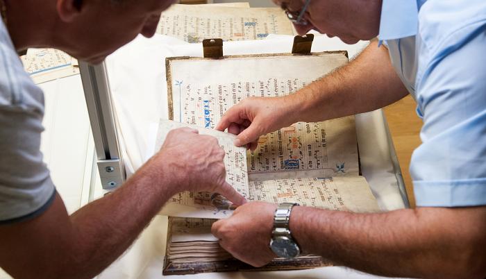 Codex Gisle, Vergleich von Andruck und Original