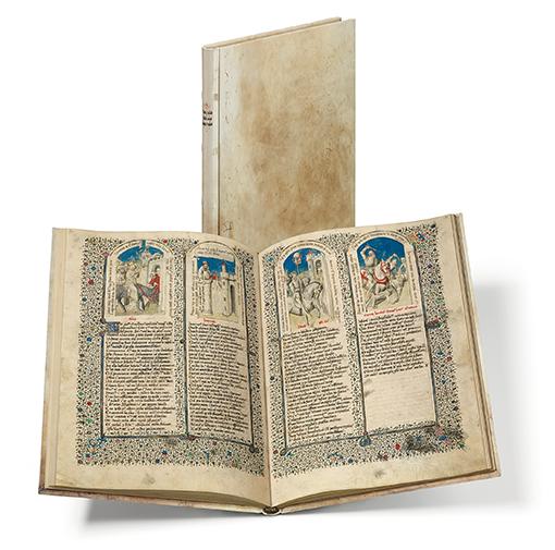 Heilsspiegel aus Kloster Einsiedeln, Faksimile-Edition, Band stehend und aufgeschlagen