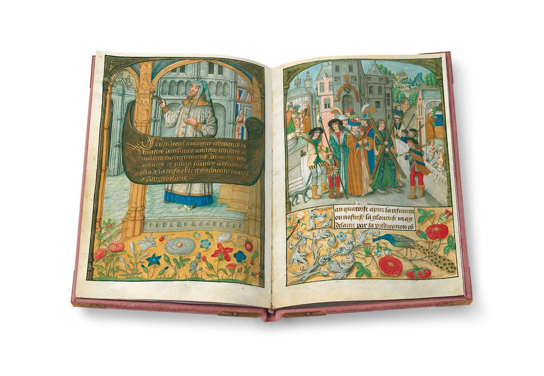 Flämische Bilderchronik Philipps des Schönen, fol. 1v-2r