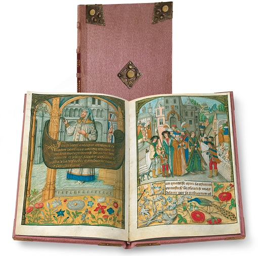Flämische Bilderchronik Philipps des Schönen, Faksimile-Edition, Band stehend und aufgeschlagen