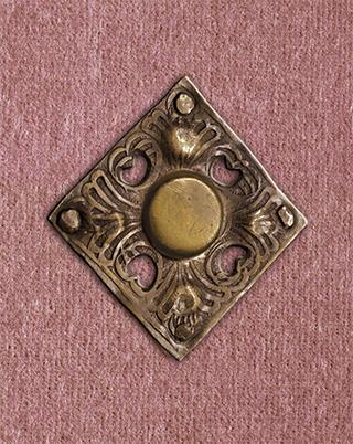 Flämische Bilderchronik Philipps des Schönen, Faksimile-Einband, Medaillon auf dem Vorderdeckel