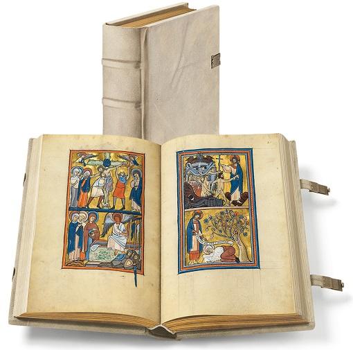 Goldener Münchner Psalter, Faksimile-Edition, Band stehend und aufgeschlagen
