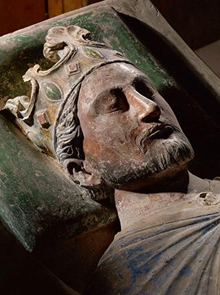 Richard Löwenherz († 1199), Grabmal des englischen Königs in der Abtei Fontevraud