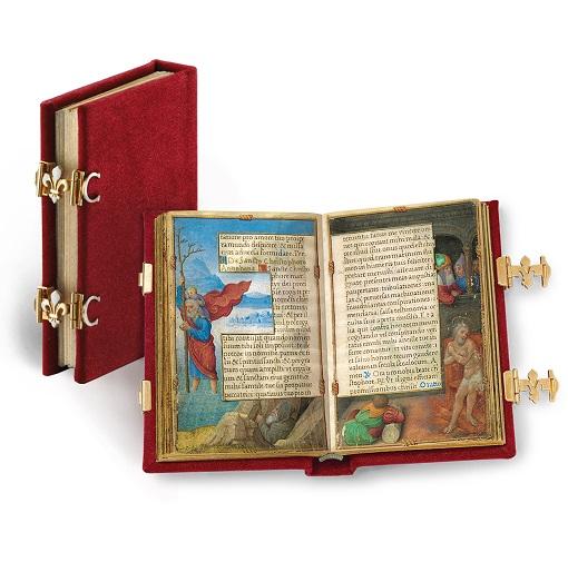 Gebetbuch der Claude de France, Faksimile-Edition, Band stehend und aufgeschlagen