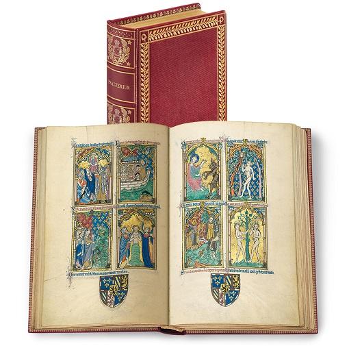 Peterborough-Psalter, Faksimile-Edition, Band stehend und aufgeschlagen