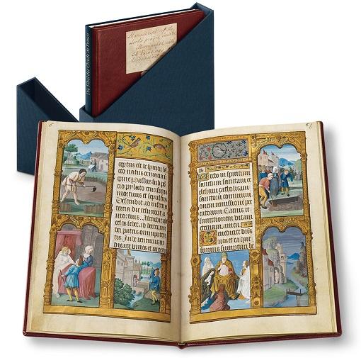Fibel der Claude de France, Faksimile-Edition, Band stehend und aufgeschlagen