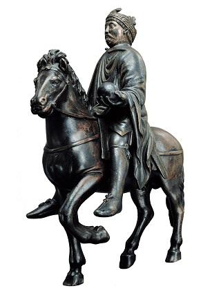 Reiterstatuette Karls des Großen aus dem späten 9. Jahrhundert