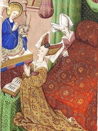 Darstellung der Auftraggeberin im Sobieski-Stundenbuch, fol. 162v