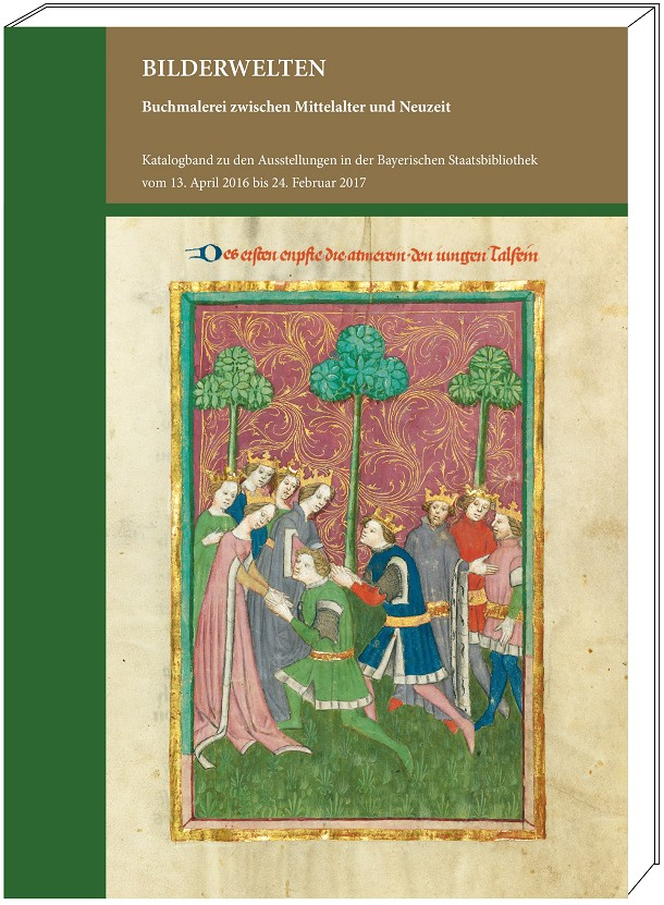 """Katalogband """"Bilderwelten"""", Grafik mit Cover"""