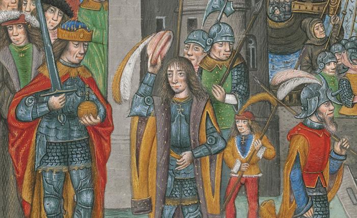 Flämische Bilderchronik Philipps des Schönen, fol. 10v