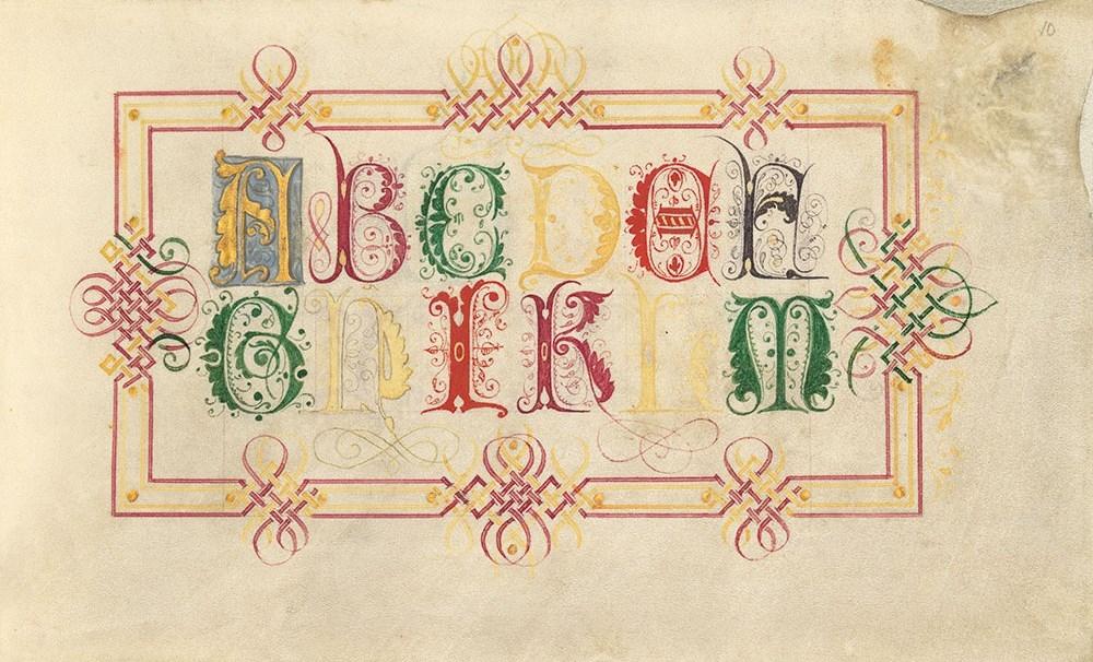 Kalligraphiebuch von Johann Caspar Winterlin, fol. 10r
