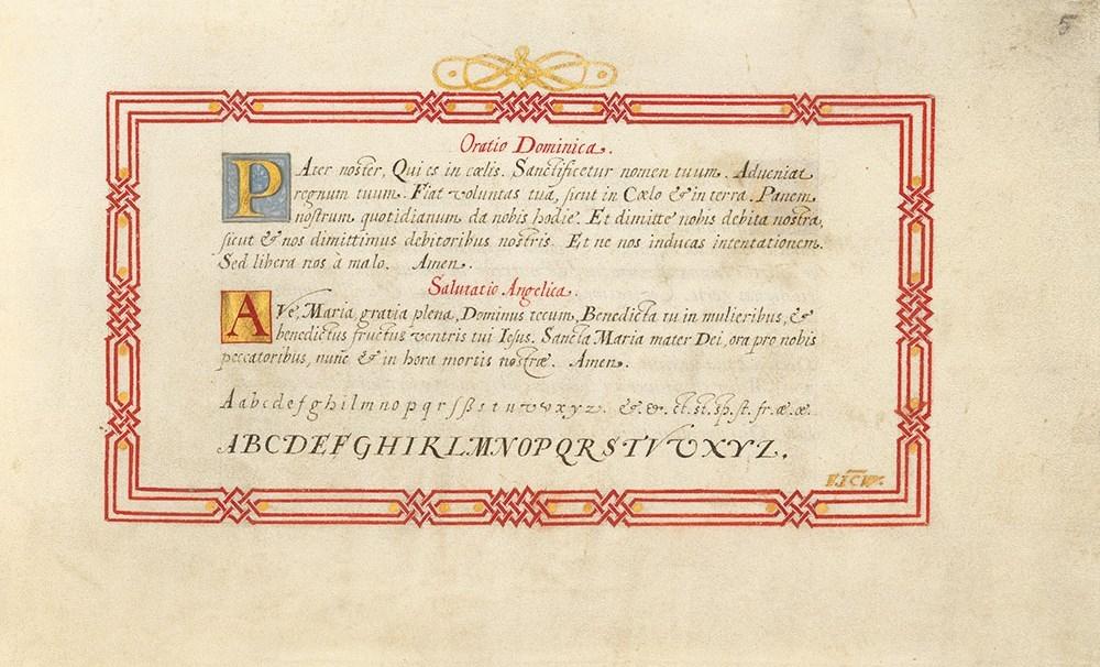 Kalligraphiebuch von Johann Caspar Winterlin, fol. 5r