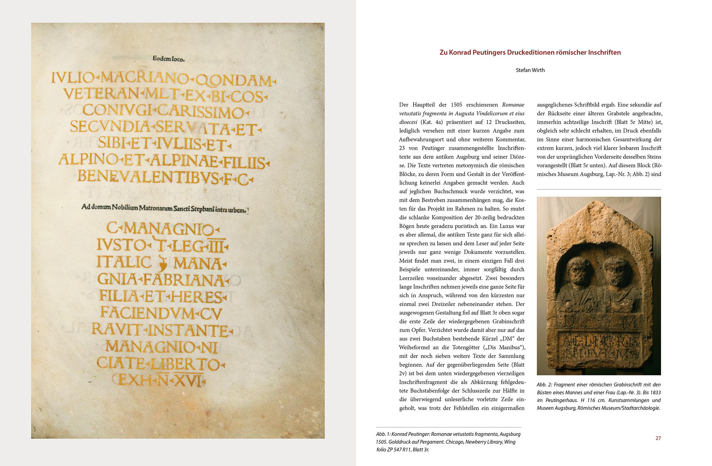 """Katalogband """"Gesammeltes Gedächtnis"""", p. 26-27"""