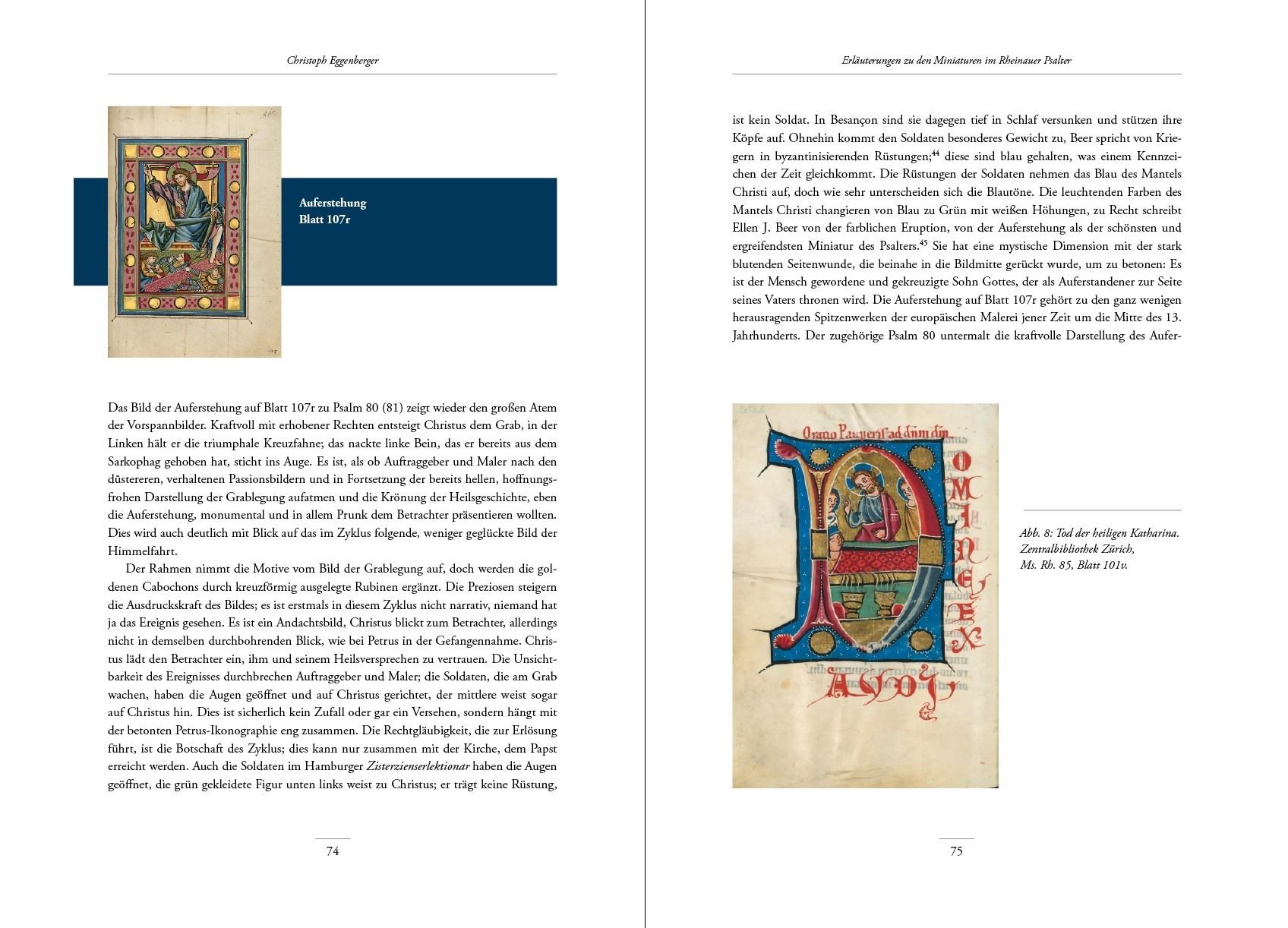 Rheinauer Psalter, Kunstbuch-Edition, p. 74-75