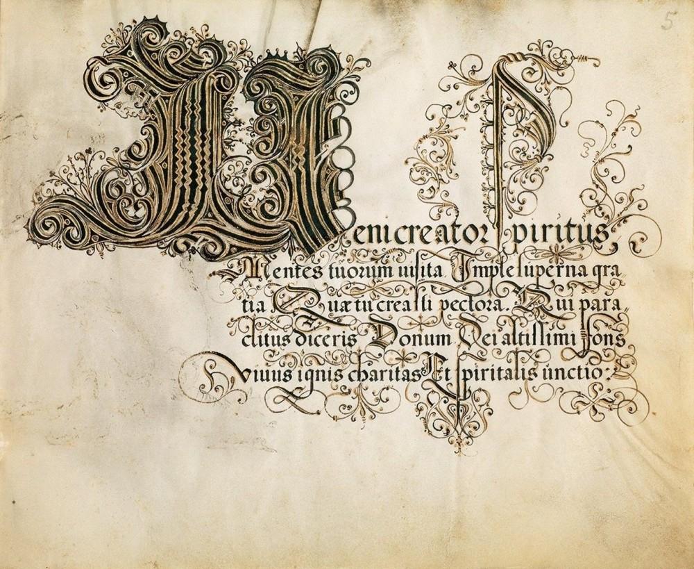 Schreibmeisterbuch des Franz Joachim Brechtel, p. 13: Schriftprobe Rotunda
