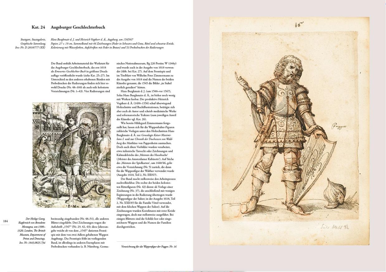 """Katalogband """"Bürgermacht & Bücherpracht"""", p. 184-185"""