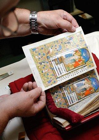 Andruckvergleich mit dem Original (Stundenbuch der Margarete von Orléans) - Die Kunst der Faksimilierung