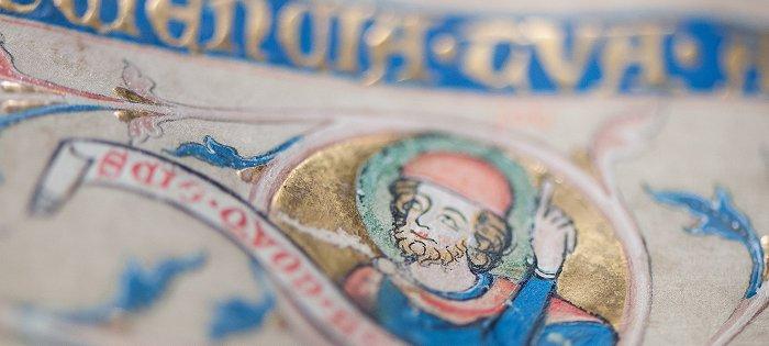Gold im Codex Gisle - Die Kunst der Faksimilierung