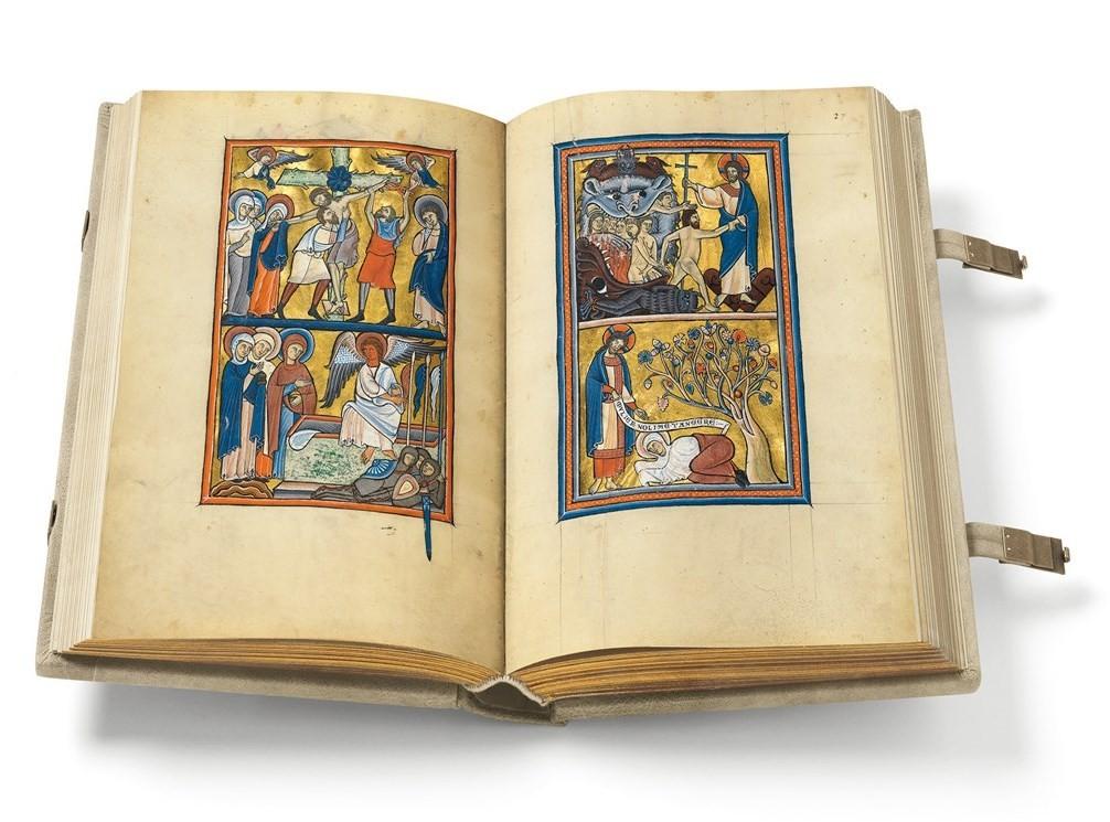 Begegnungen mit dem mittelalterlichen Buch (Goldener Münchner Psalter) - Willkommen beim Quaternio Verlag Luzern!