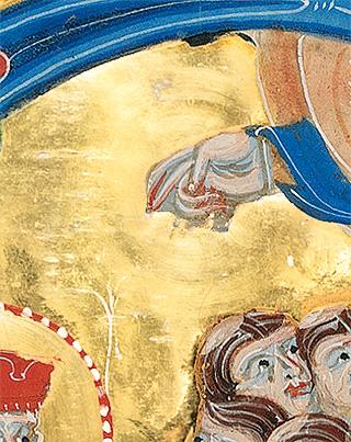 Breslauer Psalter, fol. 101r (Detail): Kreise auf dem Gold