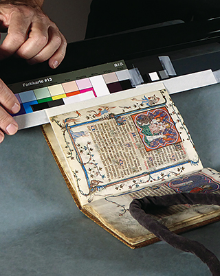 Photographing the Savoy Hours in the Beinecke Library