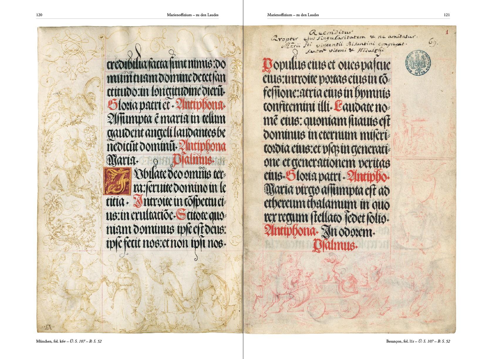 Gebetbuch Kaiser Maximilians I., Kunstbuch-Edition, Bildband, p. 120-121