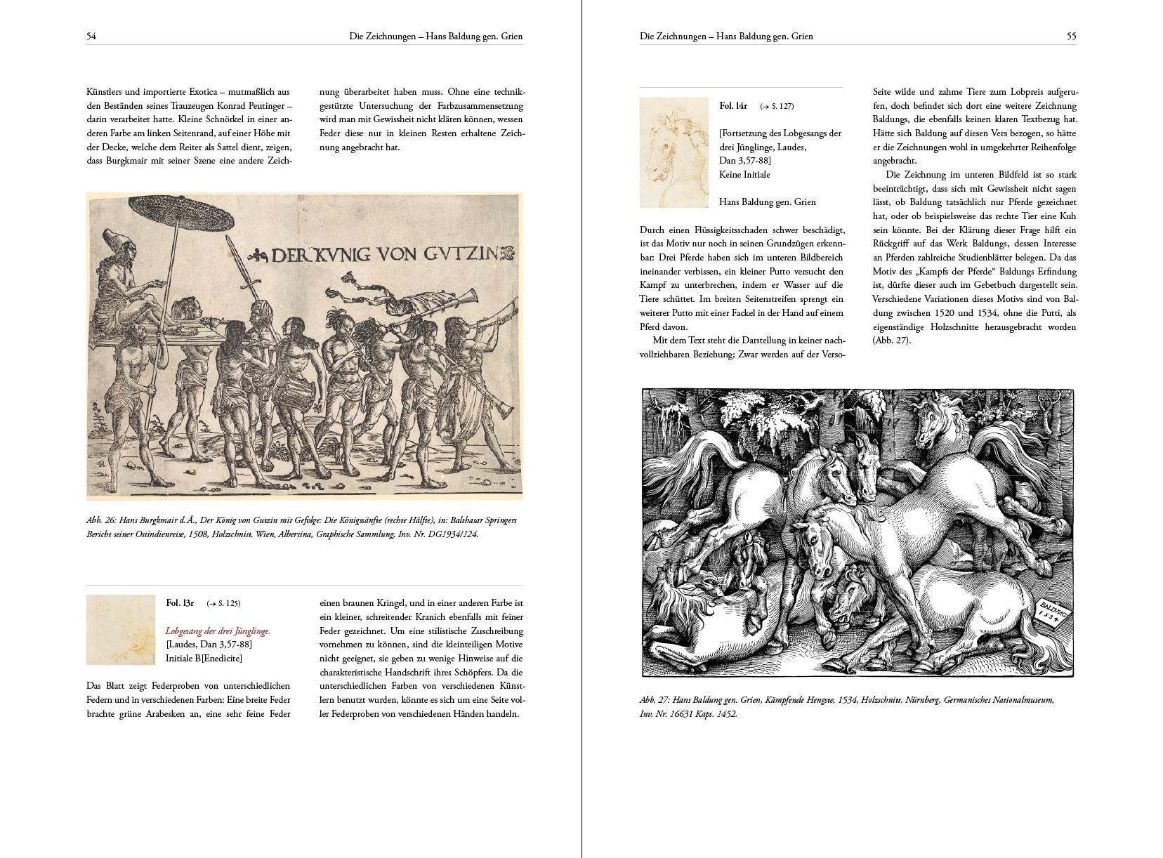 Gebetbuch Kaiser Maximilians I., Kunstbuch-Edition, Textband, p. 54-55