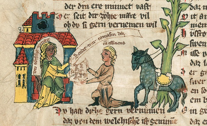 The Welscher Gast, fol. 8v
