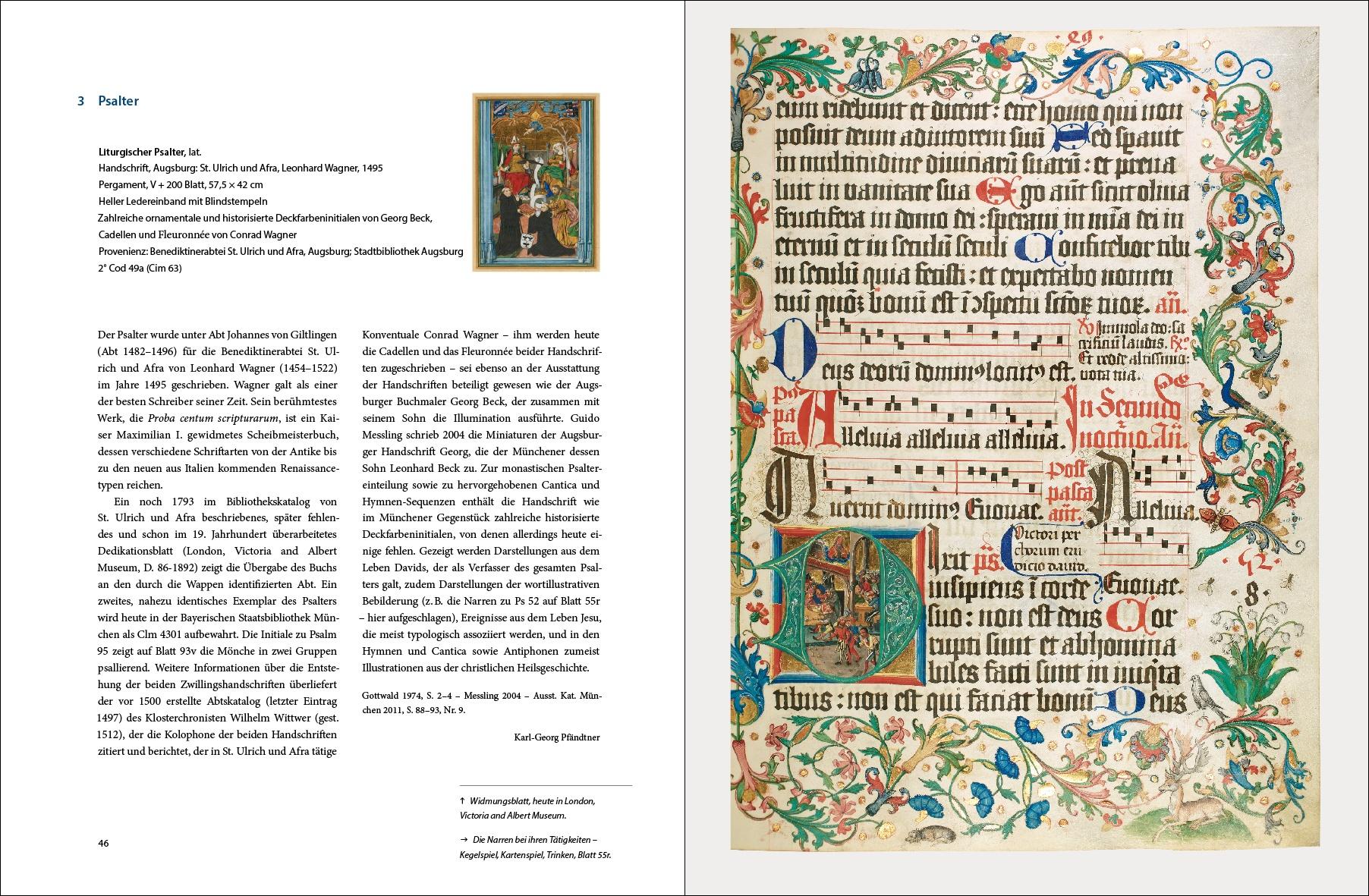 """Katalogband """"Gold und Bücher lieb ich sehr"""", p. 46-47"""