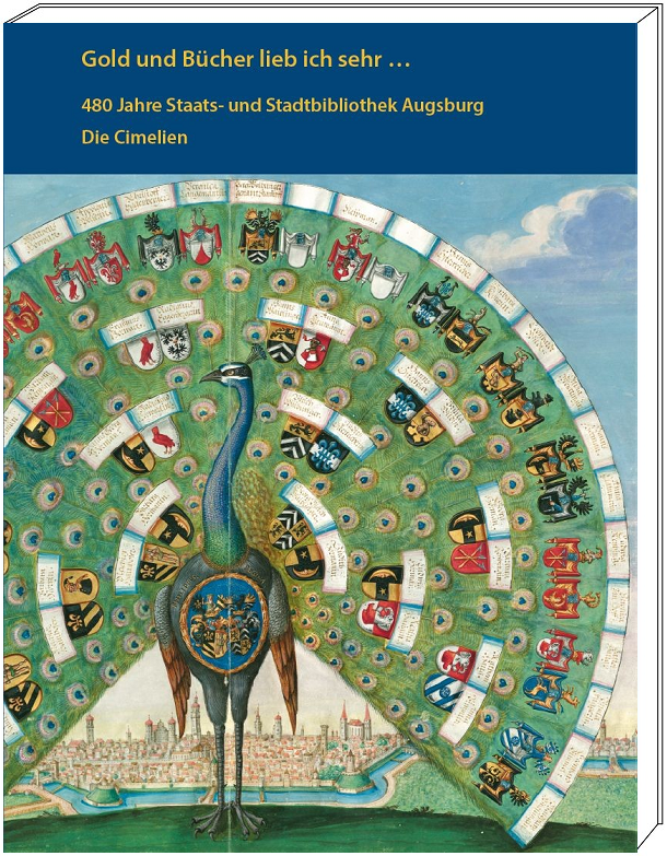 """Katalogband """"Gold und Bücher lieb ich sehr ..."""", Grafik mit Cover"""
