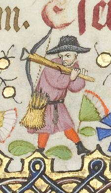Armbrustschütze im Stundenbuch der Margarete von Orléans, fol. 89r