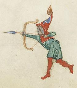Bogenschütze im Breslauer Psalter, fol. 79v